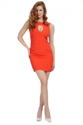 GUESS Short sheath dress - ROSSO