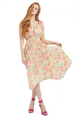 GUESS Long dress and pleated skirt - FLOREALE
