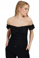 GUESS Top scollato in pizzo