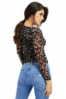 GUESS Floral print mesh sweater
