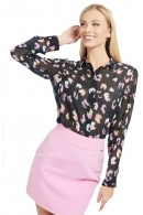 GUESS Georgette patterned shirt