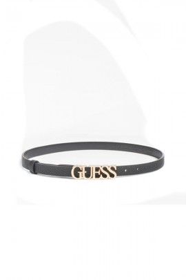 GUESS Slim belt and gold logo