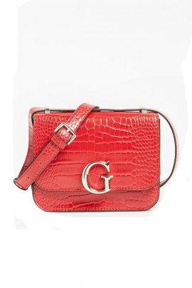 GUESS Mini bag in textured leather - ROSSO