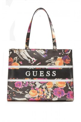 GUESS Square floral bag and band with logo