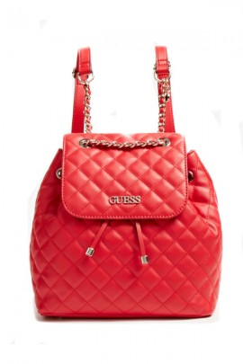 GUESS Quilted backpack - ROSSO