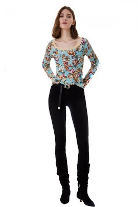 LIU JO Floral long sleeve shirt