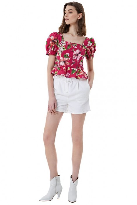 LIU JO Floral top and short sleeve