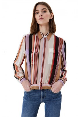 LIU JO Striped patterned shirt
