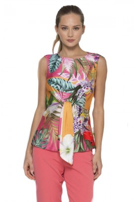 KOCCA Floral sleeveless blouse
