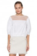 KOCCA Long sleeve blouse and tulle inserts