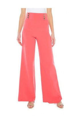 KOCCA Palazzo trousers and high waist with gold side buttons