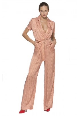 KOCCA Short sleeve patterned jumpsuit