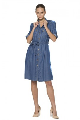 KOCCA Denim effect shirt dress
