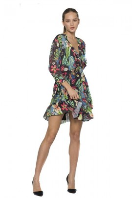 KOCCA Short floral dress 3/4 sleeve