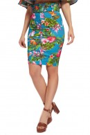 GUESS Floral skirt with belt