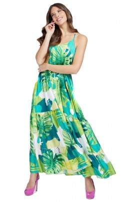 GUESS Long shaved dress - VERDE