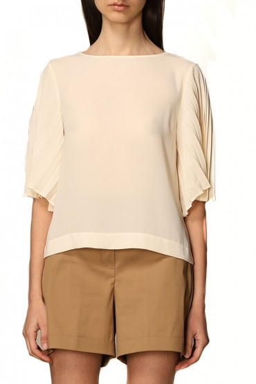 KAOS Blouse with pleated sleeves