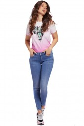 GUESS Malted T-shirt and palm print logo