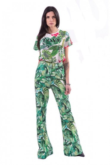 FRACOMINA Flared floral trousers
