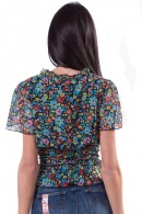 FRACOMINA Low-cut floral blouse