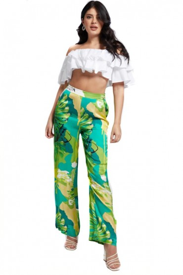 GUESS Floral print palazzo trousers