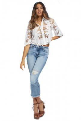 GUESS Perforated lace shirt
