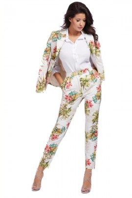 MARCIANO Floral chino trousers