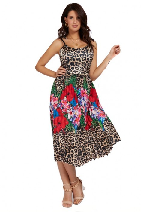 MARCIANO Spotted dress and flowers