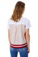 LIU JO T-shirt with pocket and patterned back