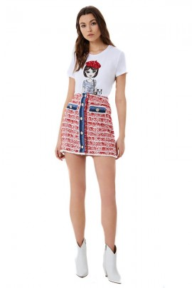 LIU JO Girl print t-shirt with applications