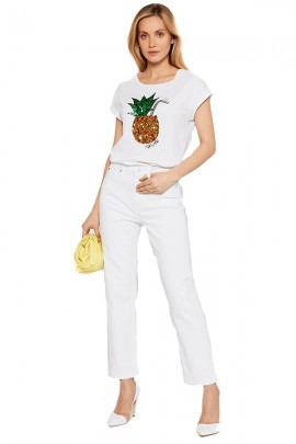 LIU JO T-shirt with sequin pineapple