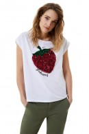 LIU JO T-shirt with sequin strawberry