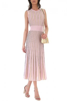 LIU JO Long striped knitted dress