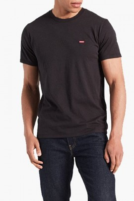 LEVIS Basic micrologist embroidery t-shirt - BLACK