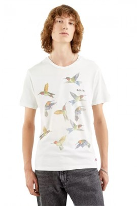 LEVIS T-shirt stampa uccelli