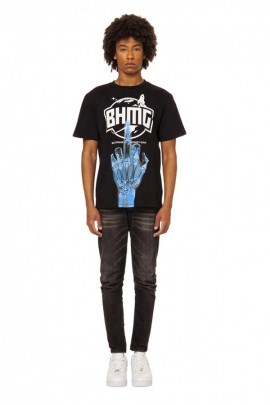BHMG T-shirt logo and skeleton hand