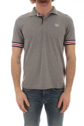 SUN 68 Polo shirt with contrast stripe sleeve