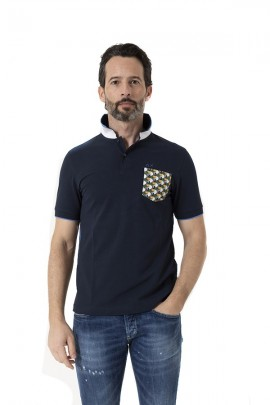 SUN 68 Polo shirt with patterned pocket