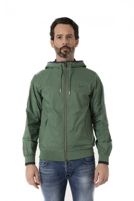 SUN 68 Men's jacket with hood - VERDE