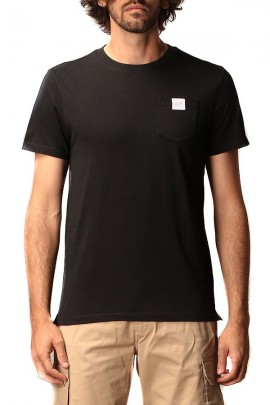 SUN 68 T-shirt with pocket and micrologist - BLACK