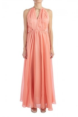 KOCCA Long dress with pleated bodice and stole
