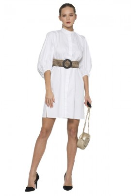 KOCCA Shirt dress with elastic belt