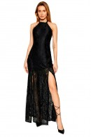 GUESS Long dress in openwork lace