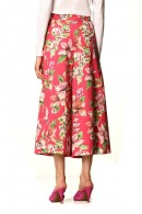 LIU JO Floral cropped and bow belt