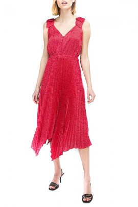 GUESS Long dress and pleated skirt - ROSSO