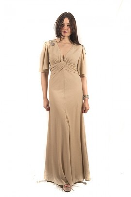 KOCCA Long laminated dress