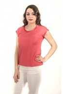 KOCCA T-shirt with satin inserts