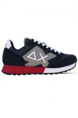 SUN 68 Sneakers uomo logo max e contrasto - BLU