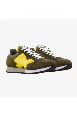SUN 68 Herren Sneakers mit maximalem Logo und Kontrast - MILITARE