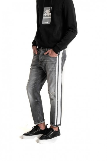 ANTONY MORATO Ripped jeans and side stripe